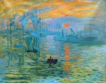 Impression sunrise - oil painting reproduction